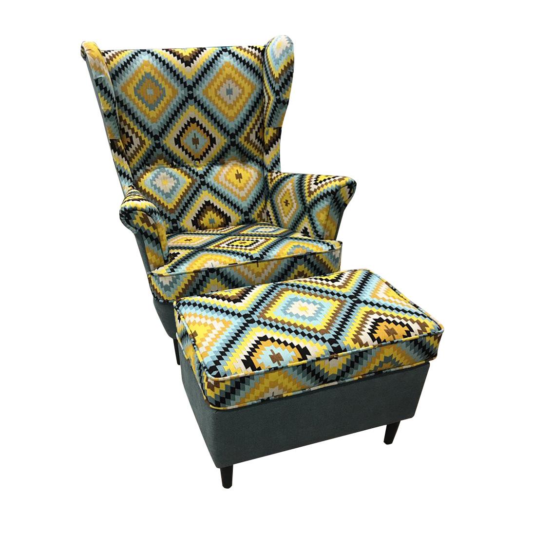 каминное кресло с банкеткой
