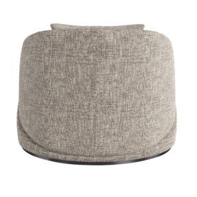Дизайнерское круглое современное кресло современное лен