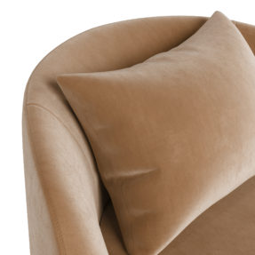 Artdeco круглое бежевое дизайнерское кресло с подушкой