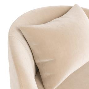Дизайнерское арт-деко круглое большое кресло белое бежевое