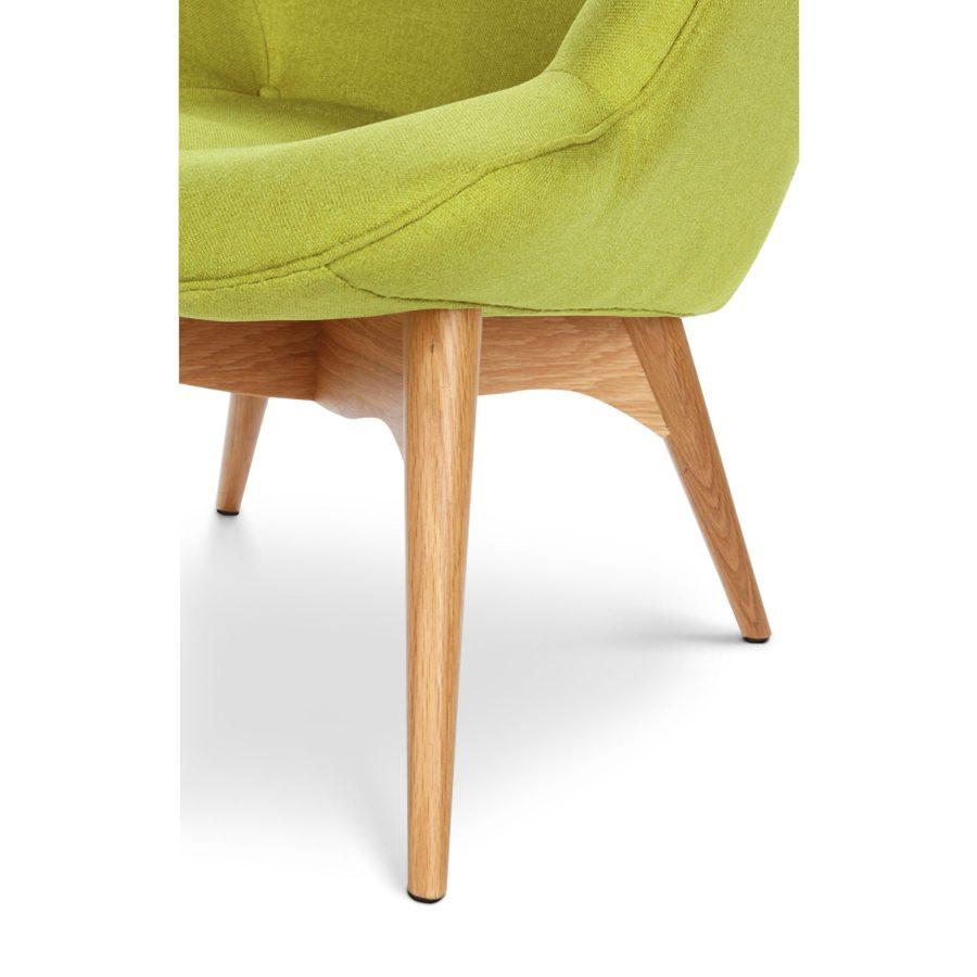 Дизайнерское кресло Contour зеленое на ножках, интерьерное скандинавское Контур в гостиную, Грант Фезерстоун