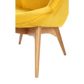 Дизайнерское кресло Contour желтое на деревянных ножках, интерьерное скандинавское Контур в гостиную, Грант Фезерстоун