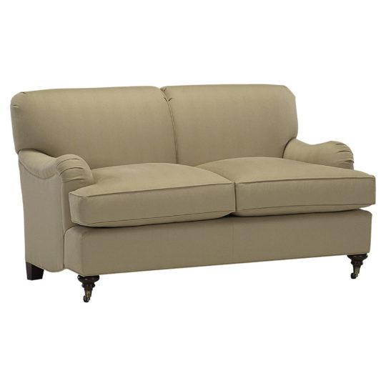 Английский бежевый диван Оливер в стиле современная классика и ар-деко