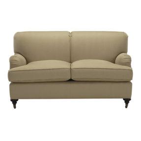 Английский бежевый диван Оливер в стиле современная классика, двухместный