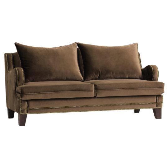 Бархатный дизайнерский современный коричневый диван