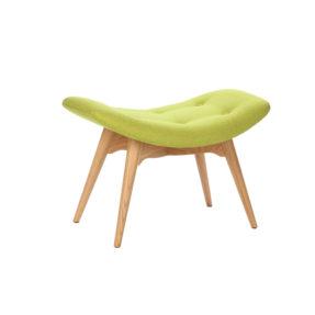 Дизайнерская банкетка Contour зеленая подставка для ног, интерьерное скандинавское Контур в гостиную, Грант Физерстоун