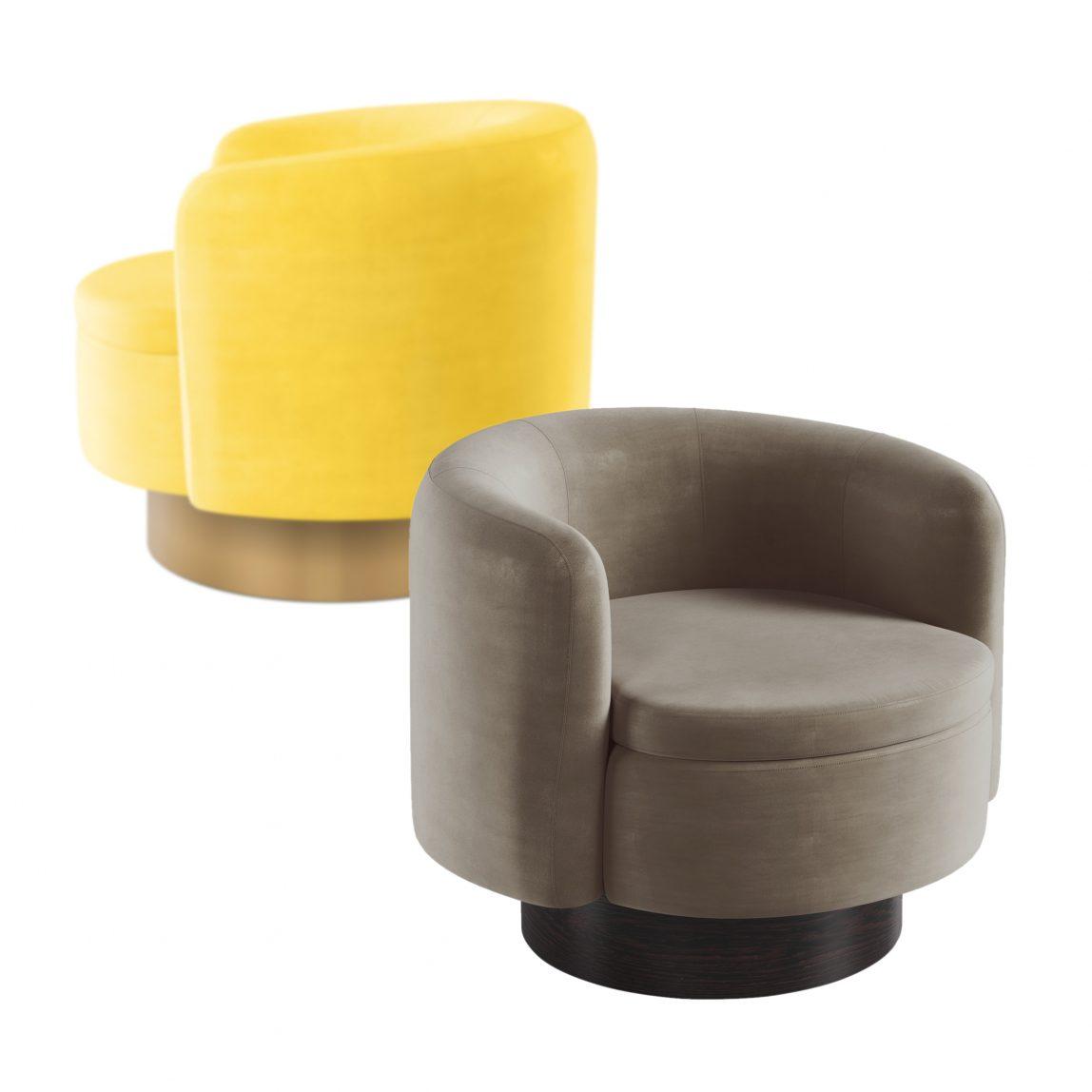 Круглые бархатные кресла купить