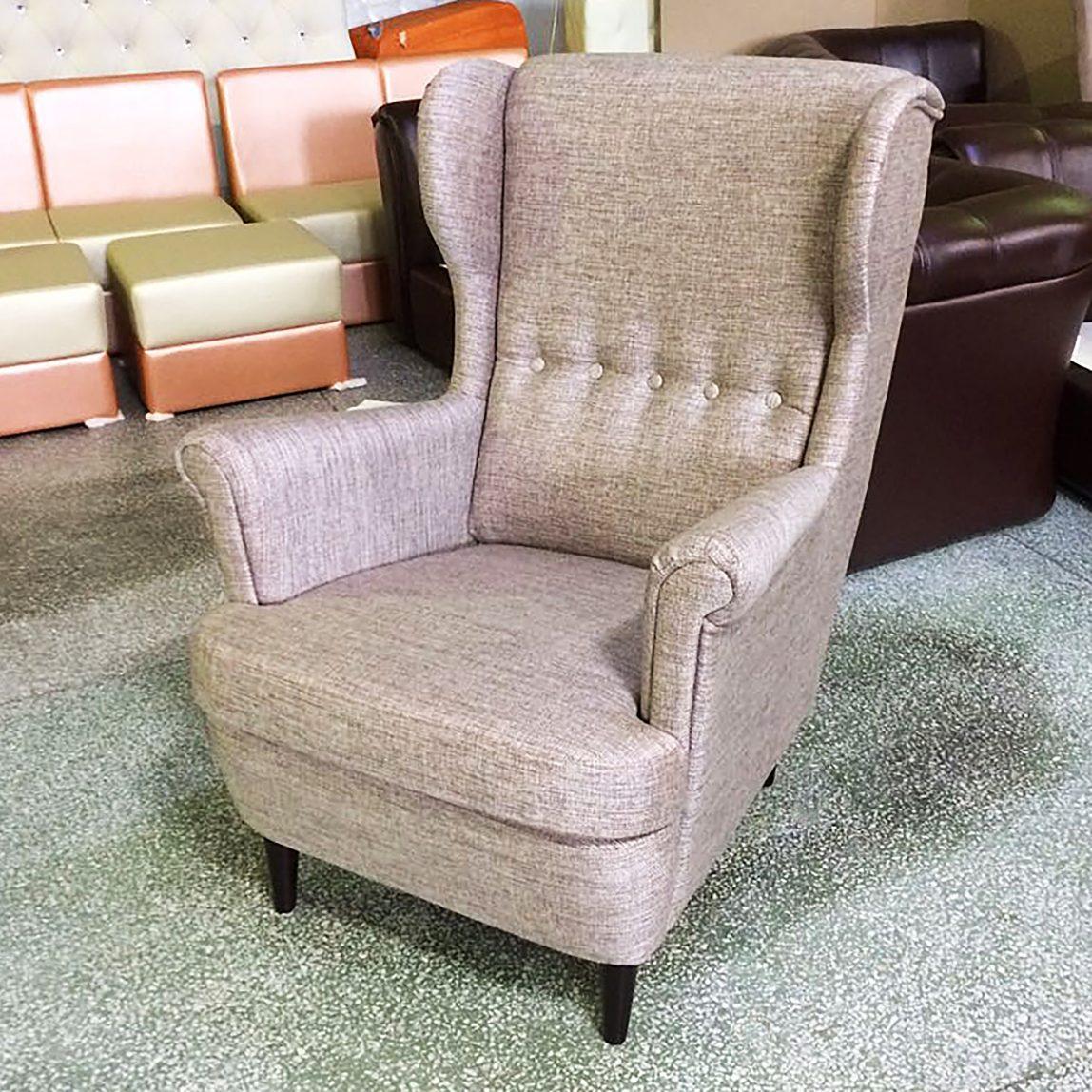Кресло Ikea Икея страндмон бежевое серое