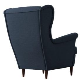 Мягкое кресло для отдыха с высокой спинкой икея ikea синее