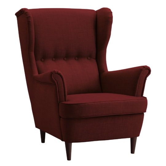Современное высокое красное кресло Страндмон икея ikea