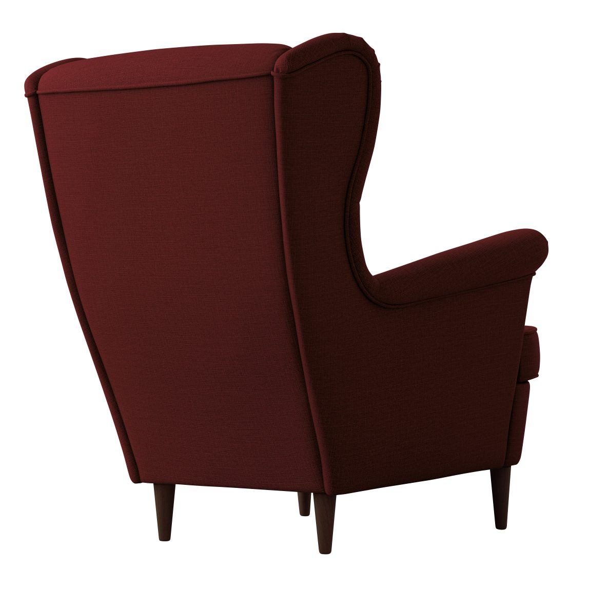 Мягкое уютное кресло с высокой спинкой Страндмон ikea икеа