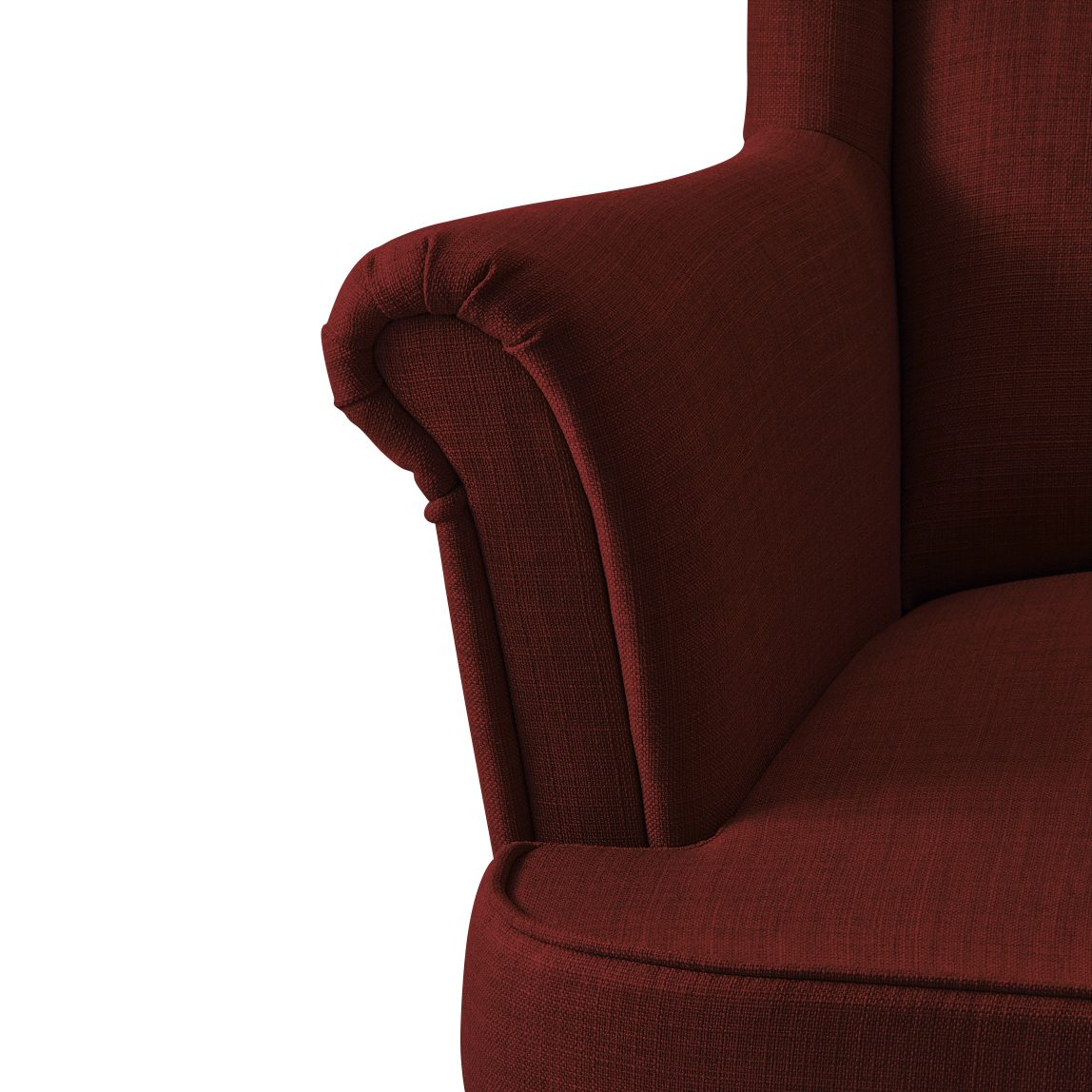 Красное Кресло с подлокотниками