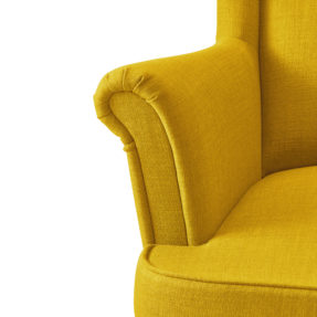 Желтое кресло ikea Страндмон икея