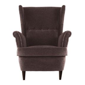 Большое кресло Страндмон коричневое