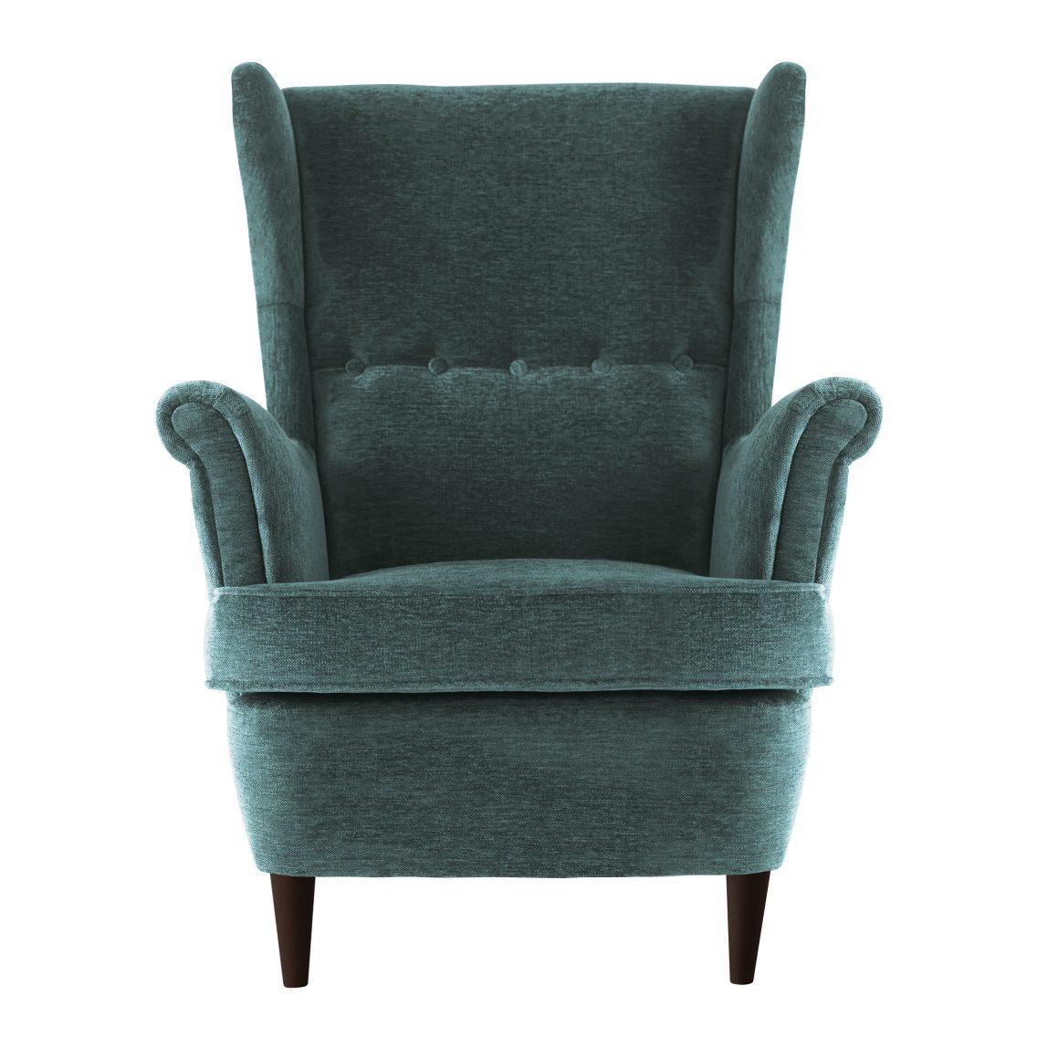 Кресло для отдыха с высокой спинкой на ножках с подлокотниками