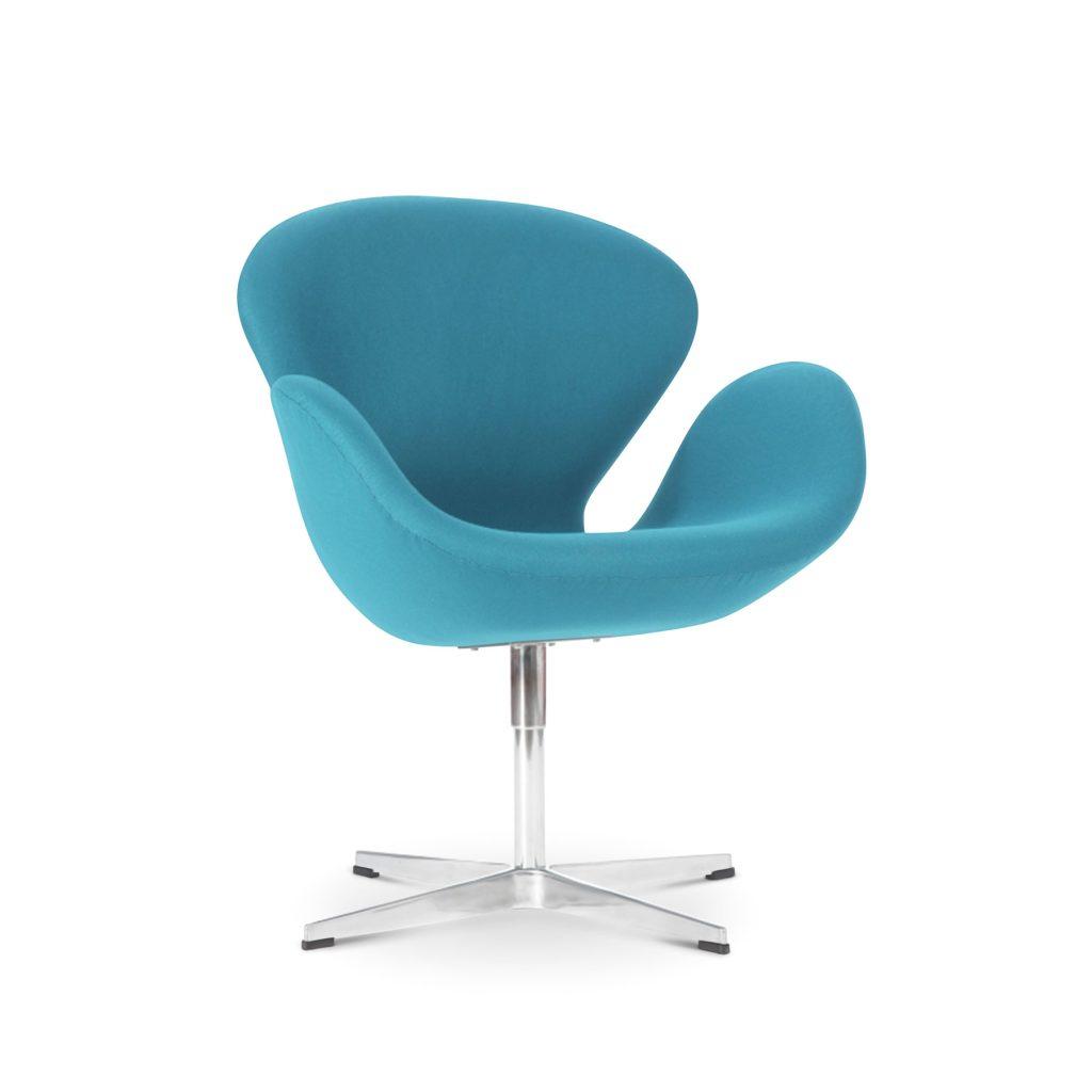 Голубое современное кресло Swan Свон