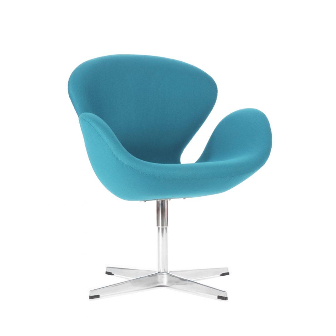 Современное голубое кресло Свон