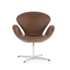 Кожаное поворотное кресло Swan Свон