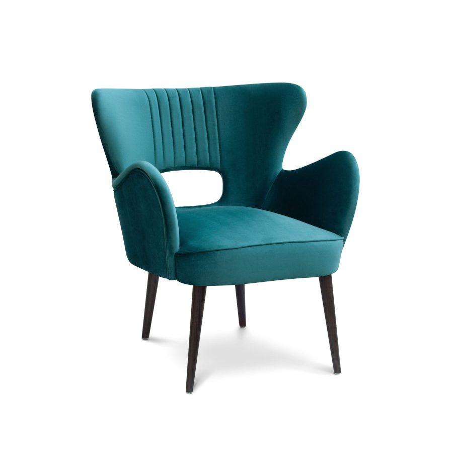 Дизайнерское кресло midcentury ар-декое