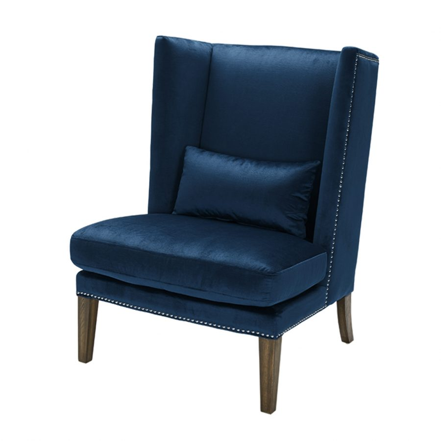 Синее большое кресло