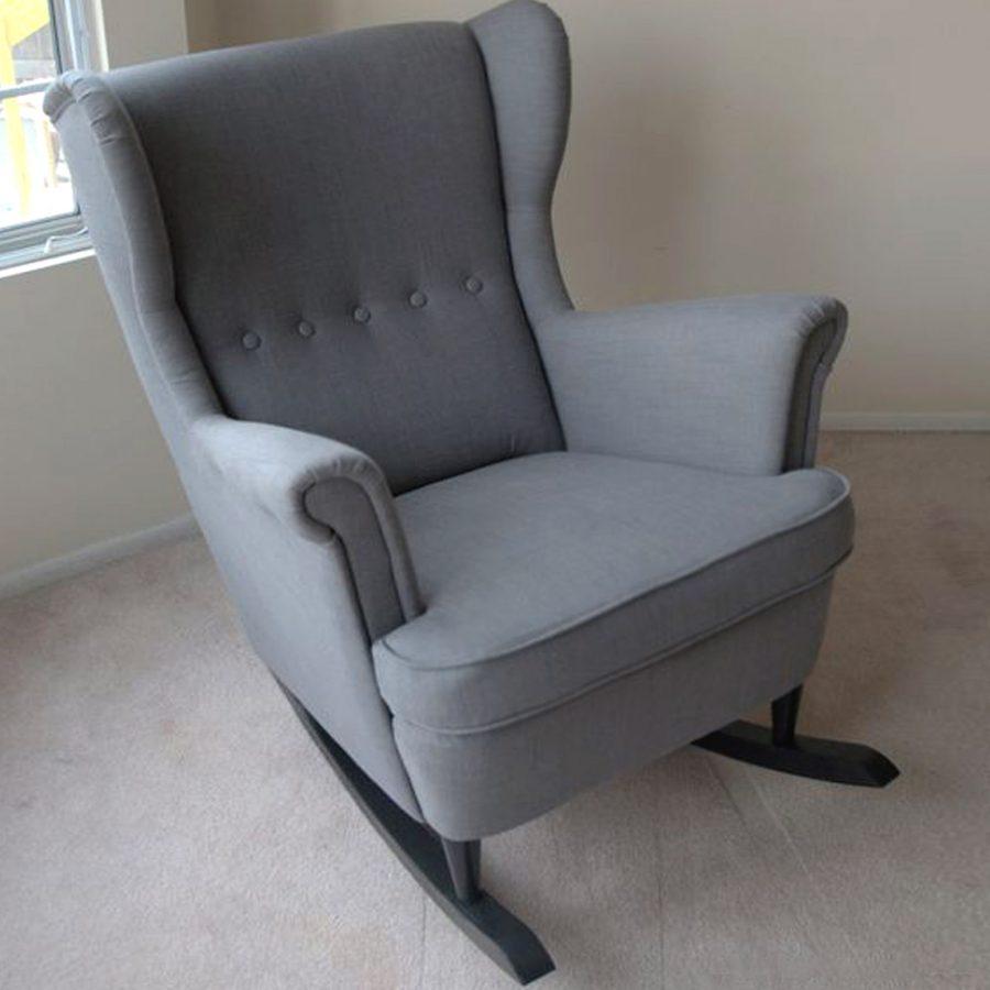 кресло-качалка мягкое кресло-качалка с мягкими подлокотниками икеа идея кресла на полозьях