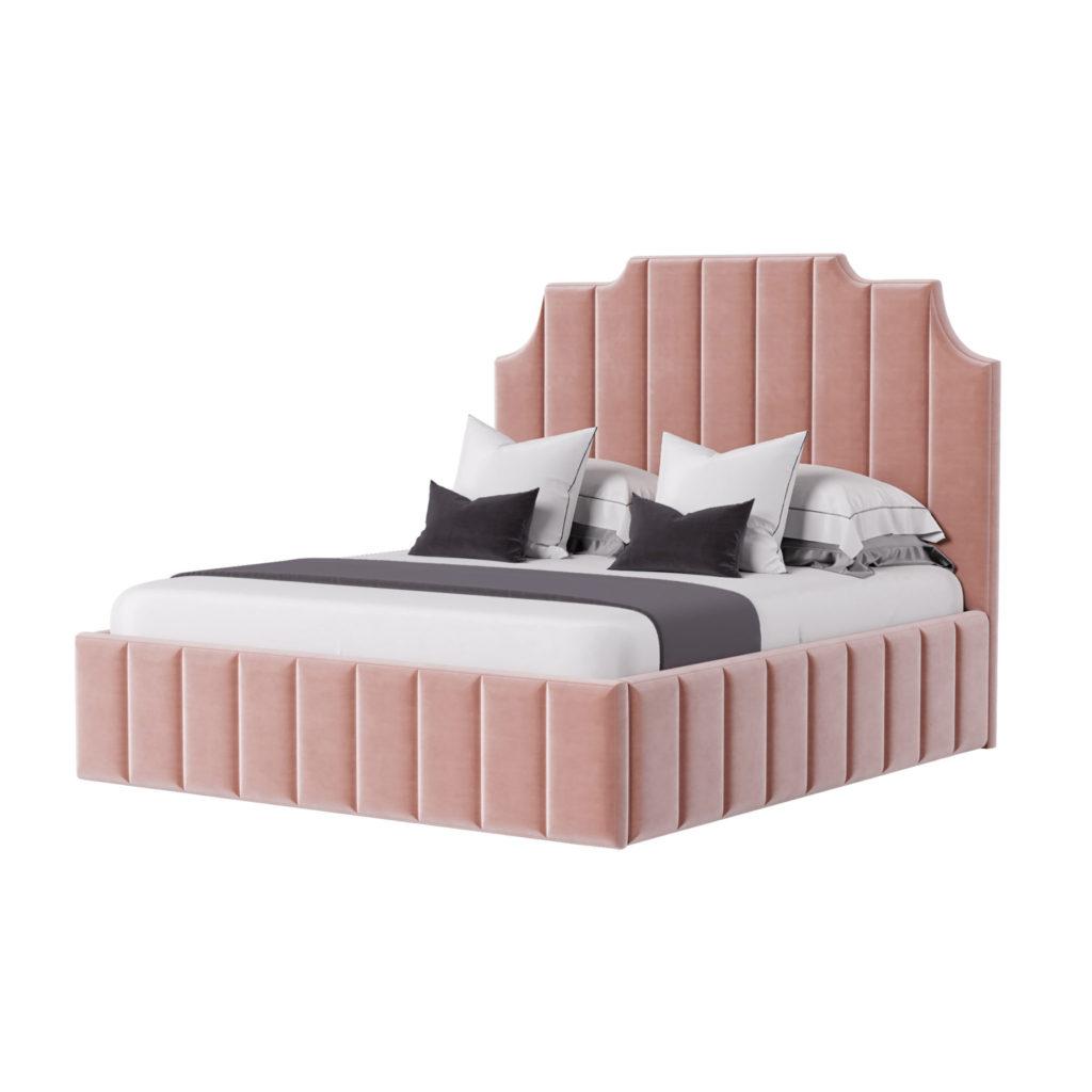 Ар-деко кровать мягкое изголовье