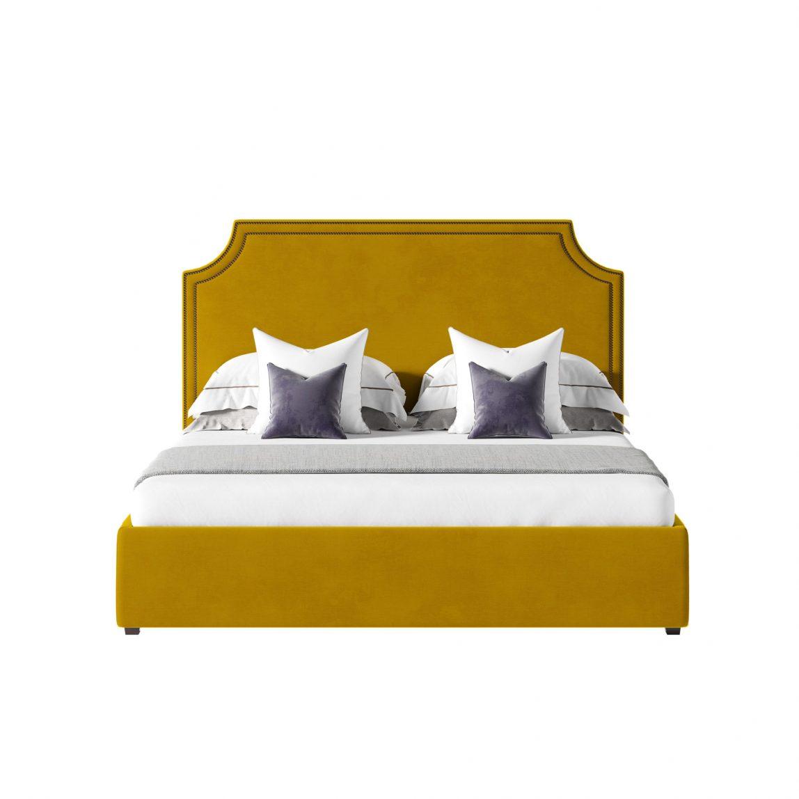 Кровать в бархате на заказ