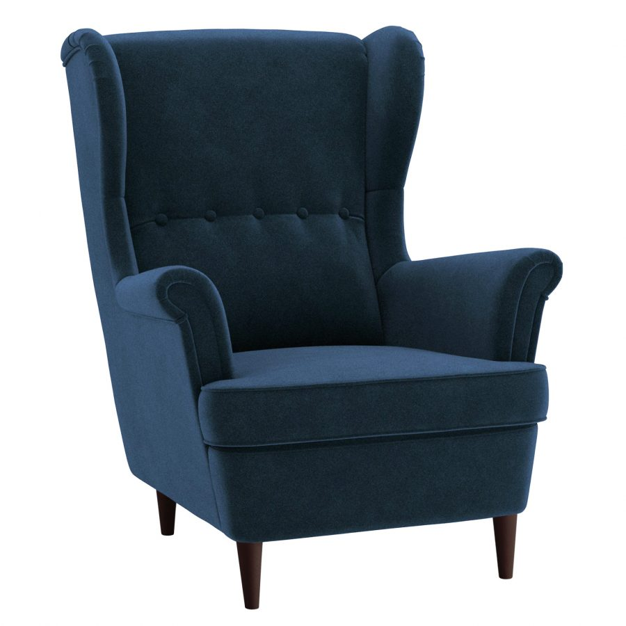 Бархатное кресло Страндмон