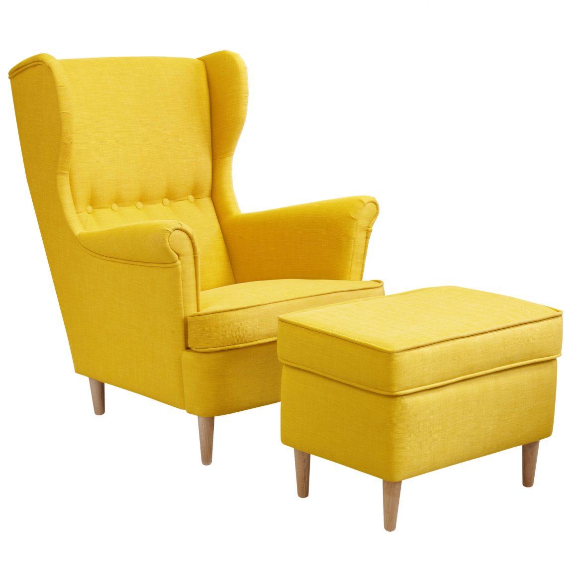 Каминное кресло с банкеткой Торн