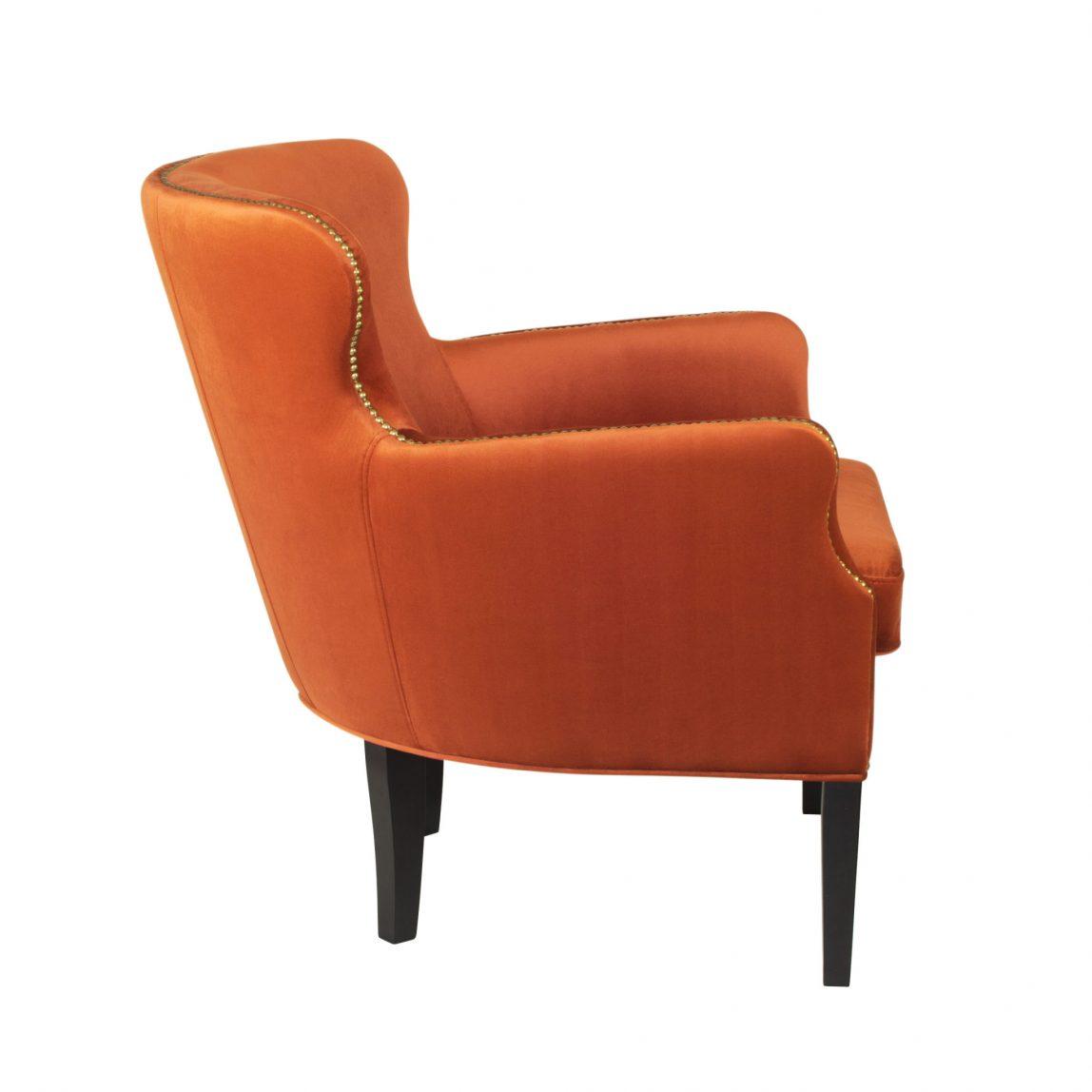кресло на высоких ножках  оранжевое