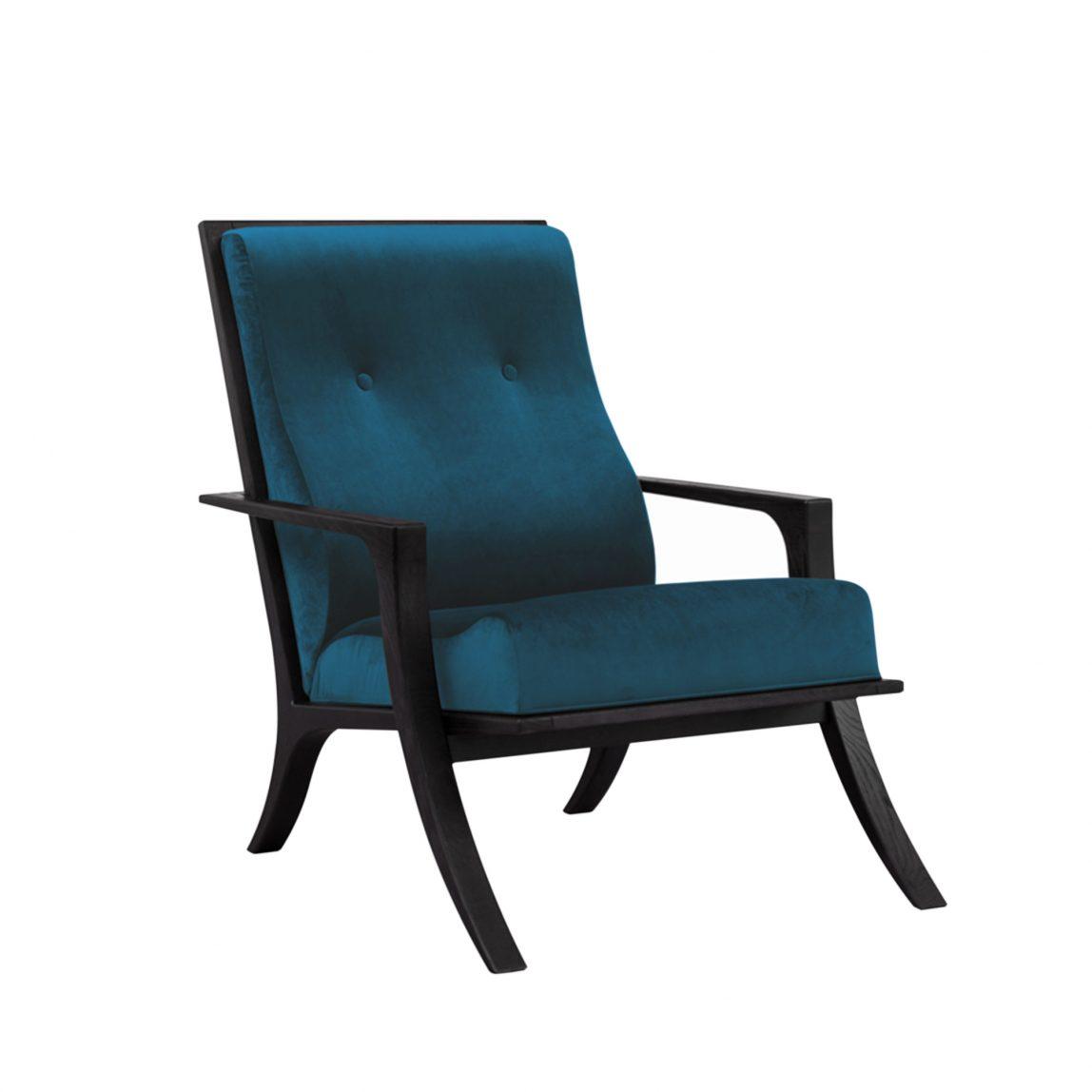 Кресло с деревянными подлокотниками Жофрей