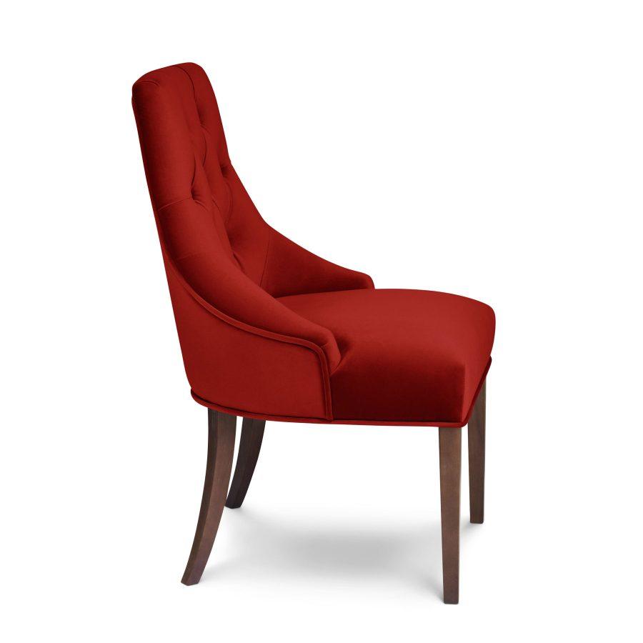 бархатный мягкий красный стул