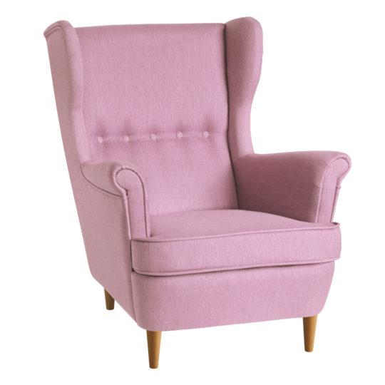 розовое кресло икея страндмон кресло высокой спинкой