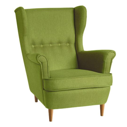 зеленое кресло икея страндмон