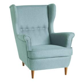 бирюзовое кресло икея страндмон кресло высокой спинкой