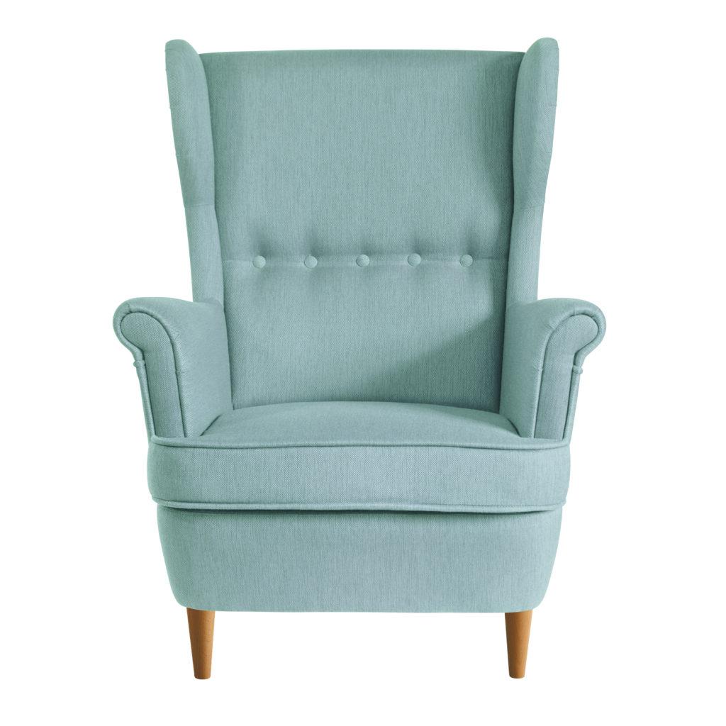 мятное кресло икея страндмон кресло высокой спинкой
