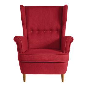 красное кресло икея страндмон