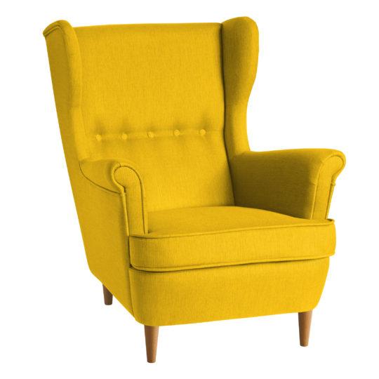 желтое кресло икея страндмон кресло высокой спинкой