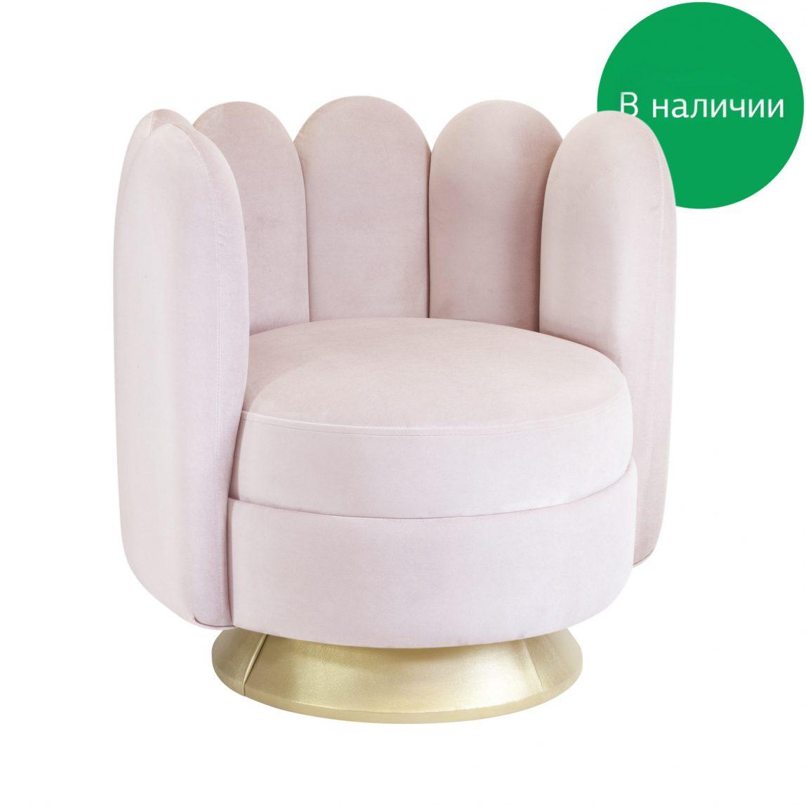 Круглое поворотное будуарное кресло Sketch Мадави