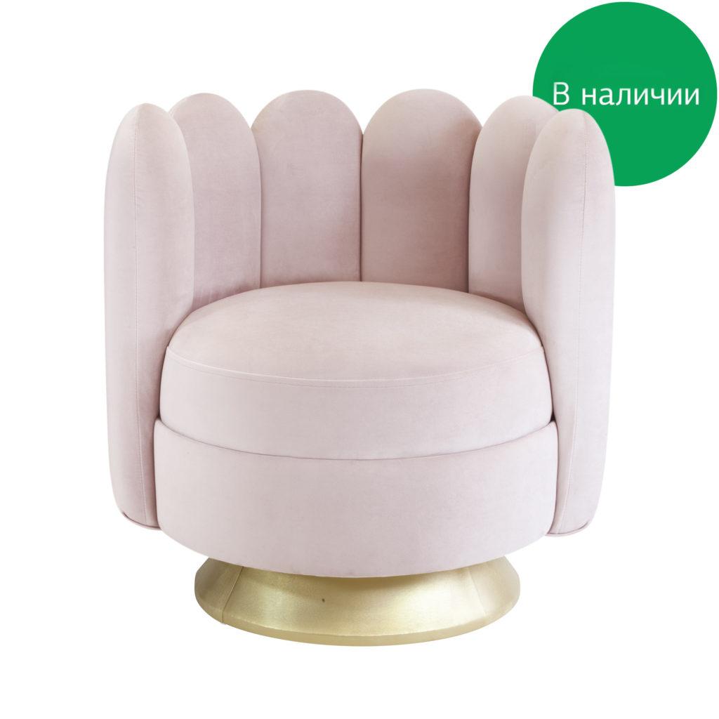 Круглое поворотное будуарное кресло в виде цветка