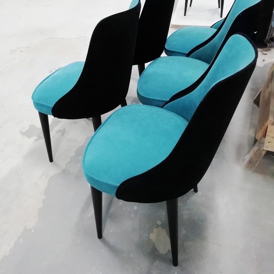 Современные стулья с комбинацией тканей
