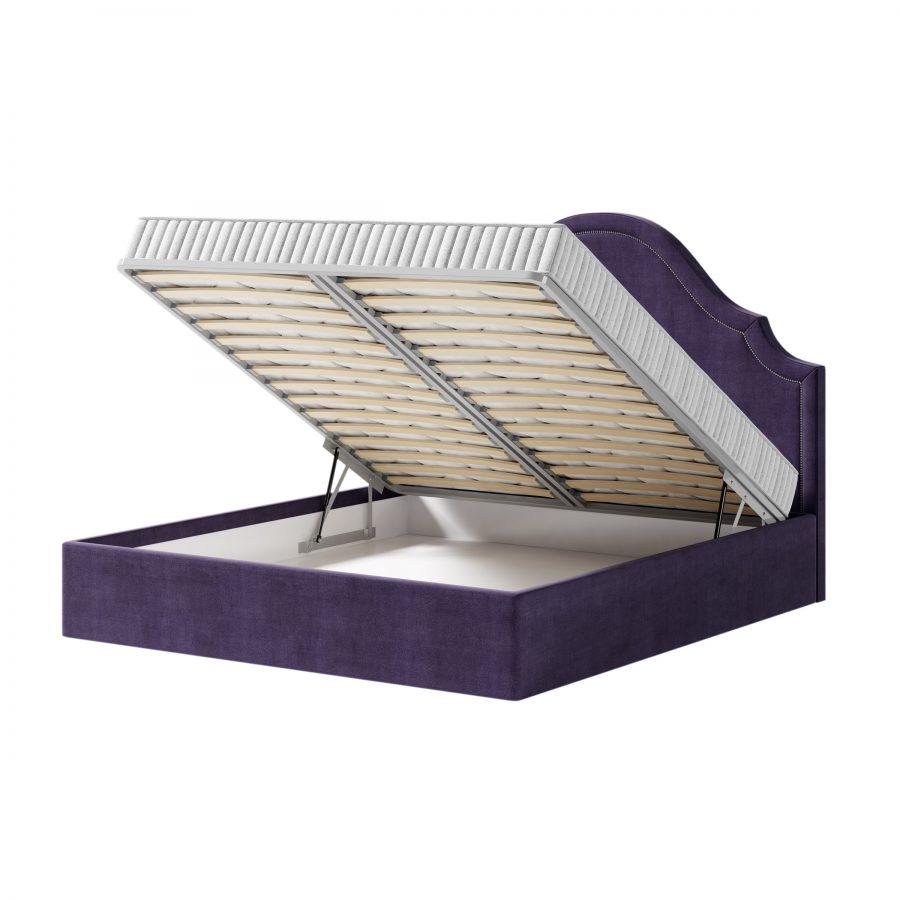 Стильная кровать Дастин с плавным волнистым изголовьем