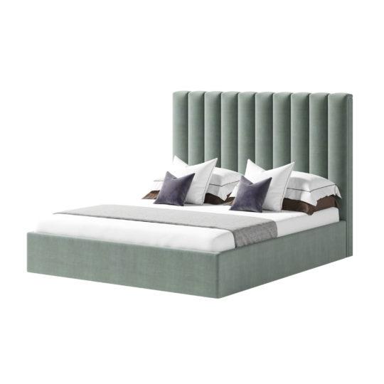 Дизайнерская кровать с вертикальными панелями на заказ