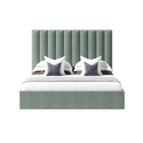 Кровать с изголовьем вертикальными полосами