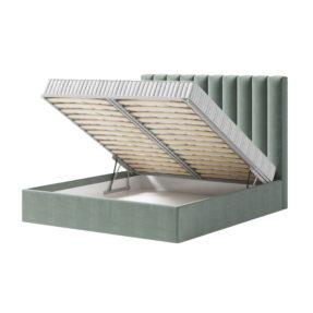 Кровать с вертикальными панелями на заказ с подъемной решеткой