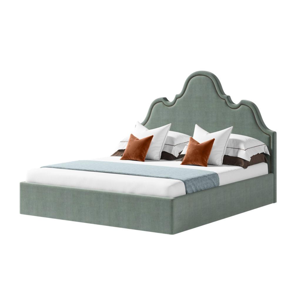 Кровать с фигурным изголовьем Себастьян