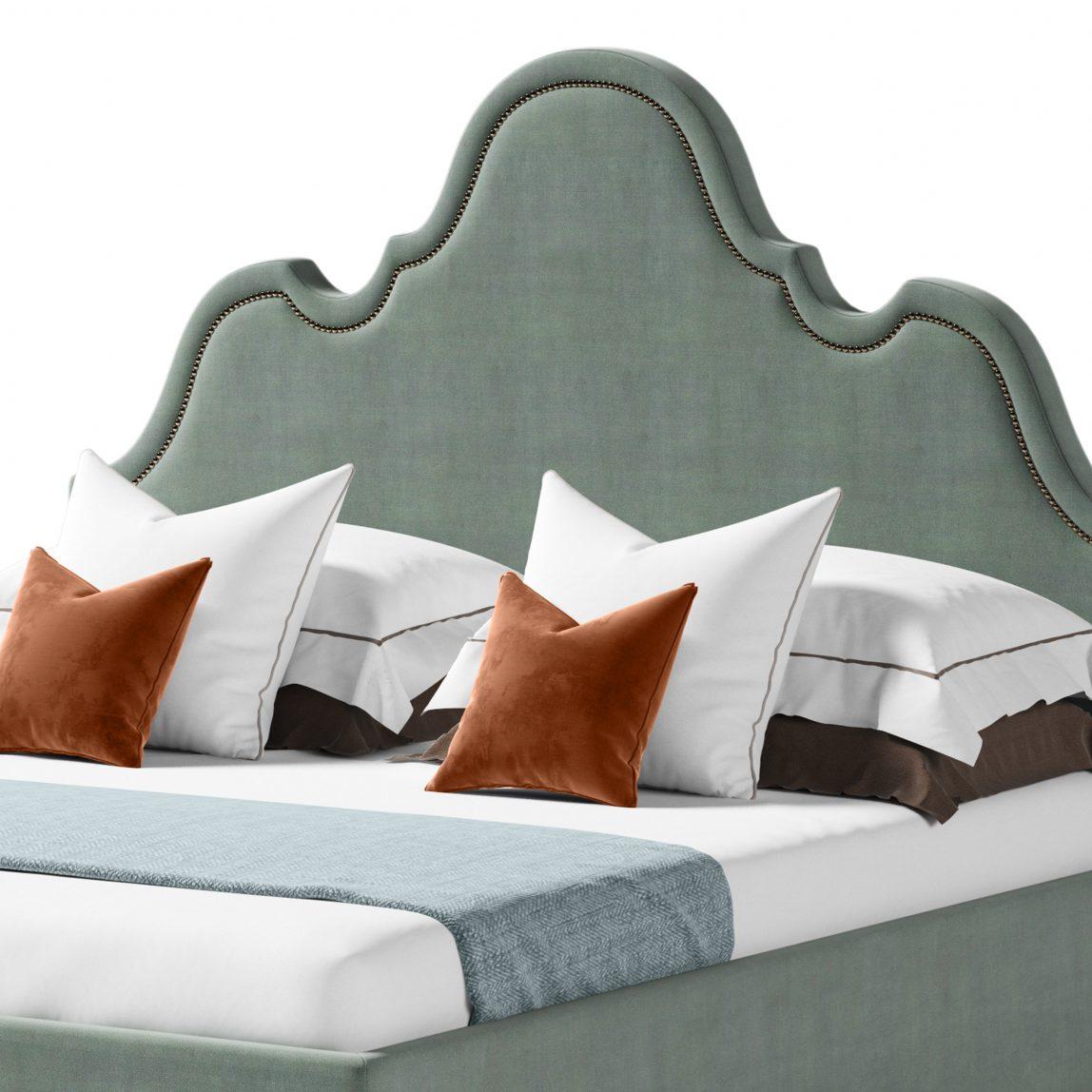 Стильная кровать в американском винтажном стиле