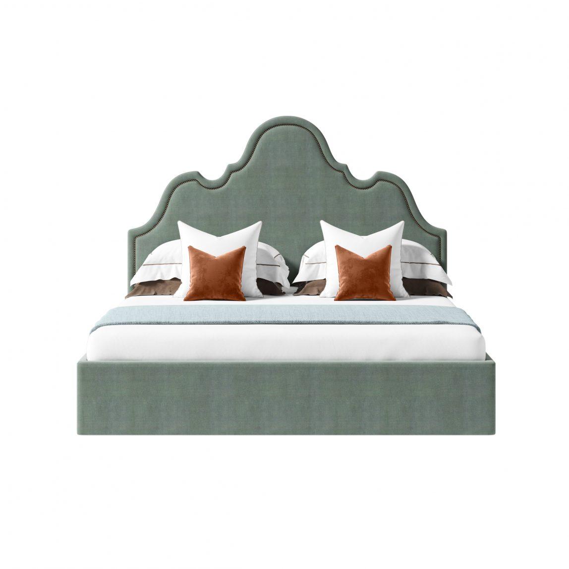 Кровать со сложным фигурным изголовьем Себастьян