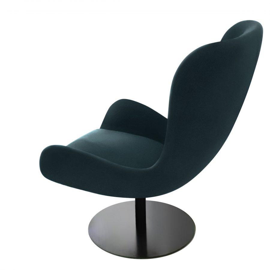 Большое роскошное кресло Эдвин в современном литом дизайне