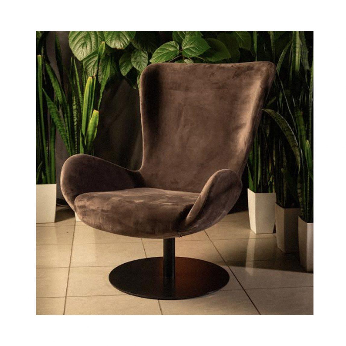 Современное дизайнерское кресло Эдвин на поворотном основании